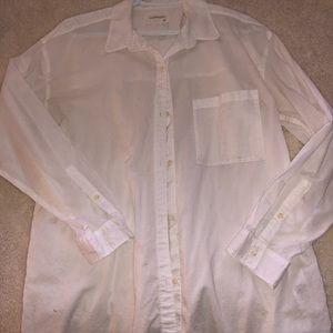 Community White button-up shirt